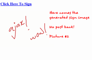 AJAX Signature - Image Shown After Save Button Clicked
